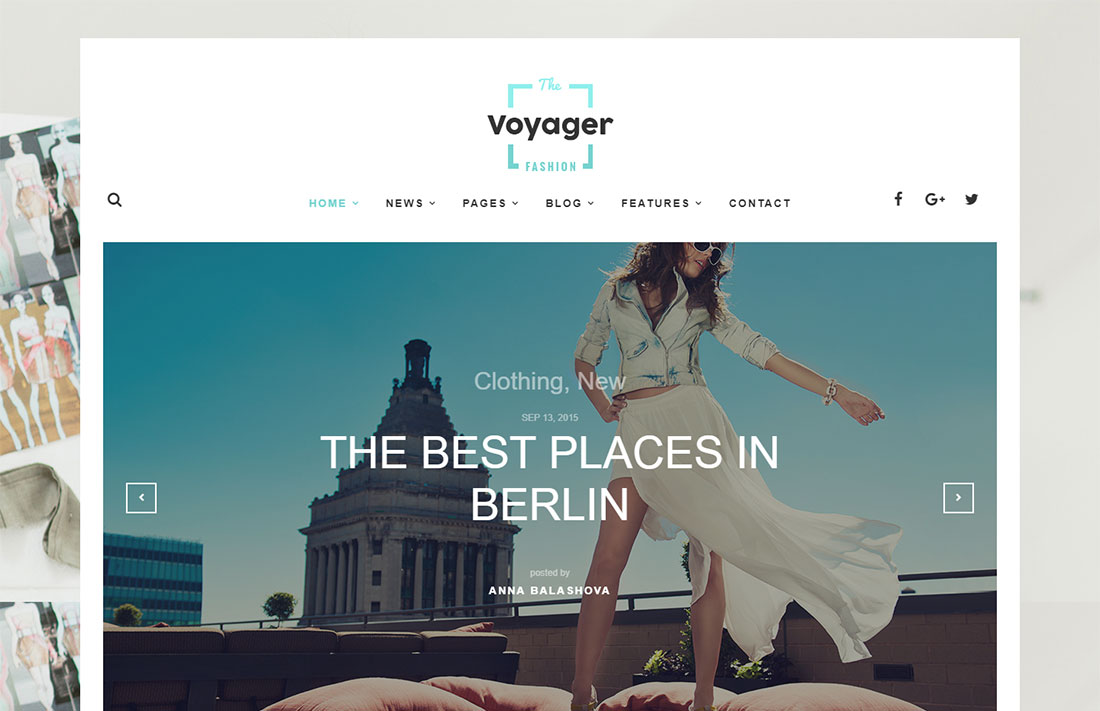 voyager travel magazine theme