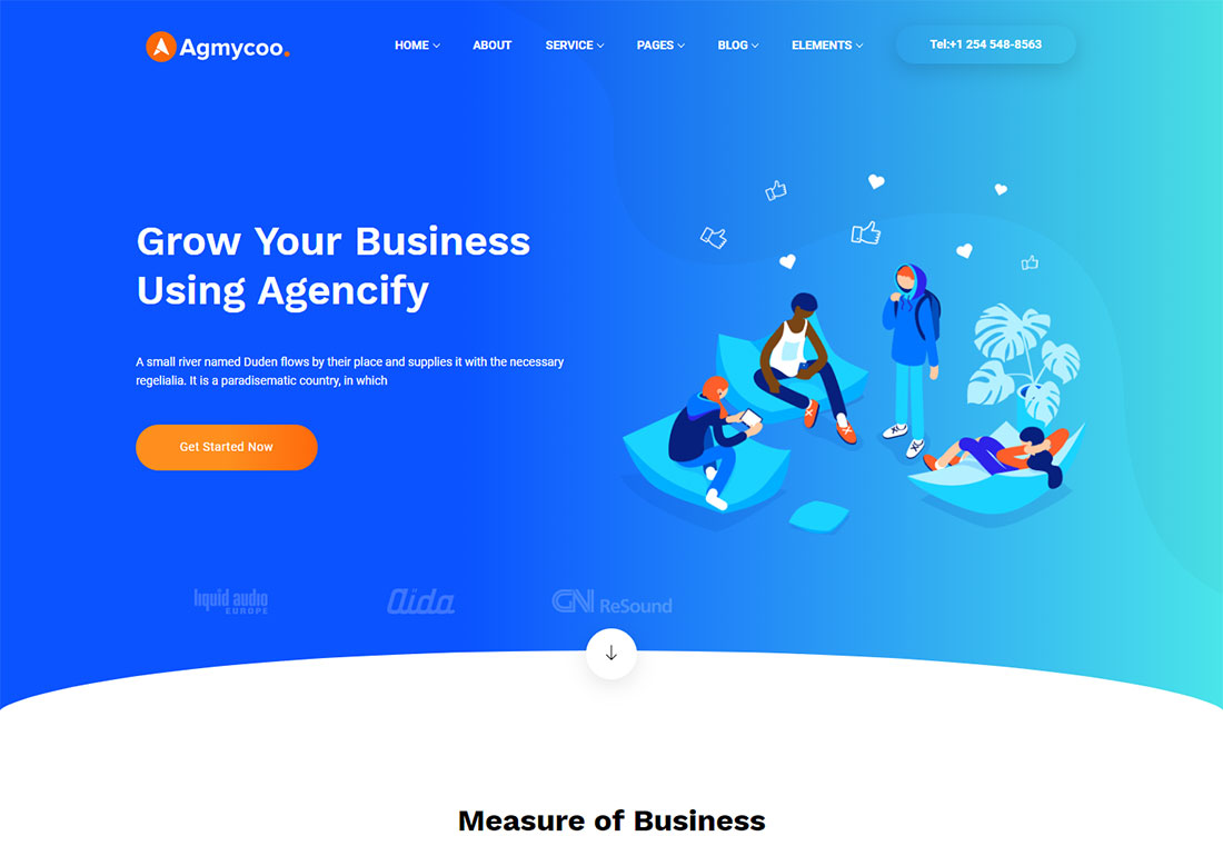 Agmycoo digital agency WordPress theme