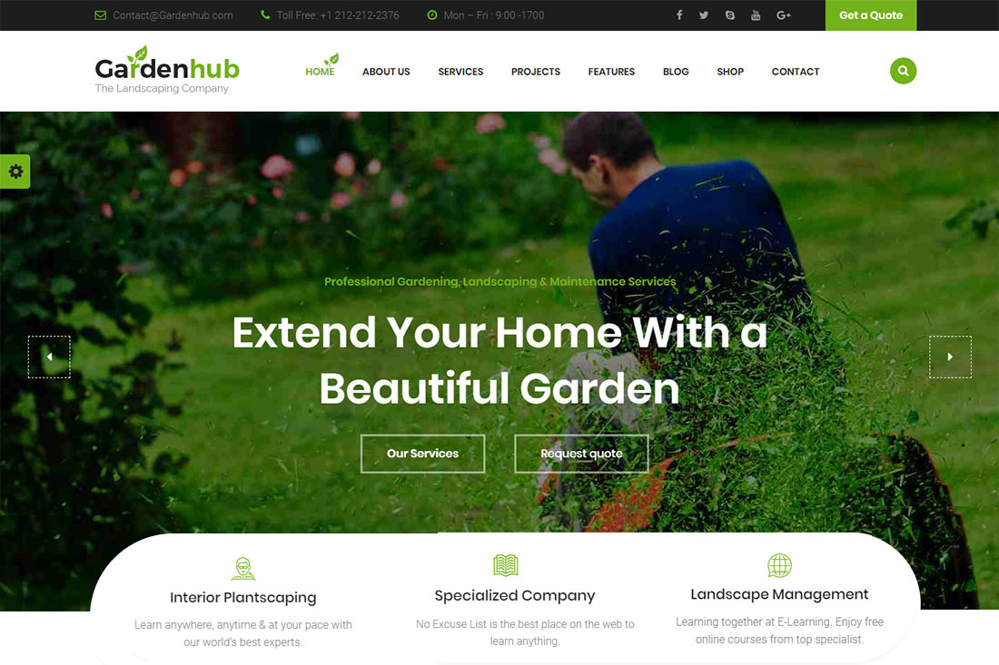 Garden Hub Landscaping Website Template