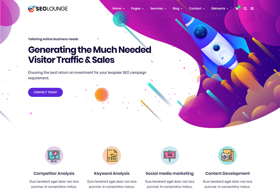 SEOLounge seo agency WordPress theme