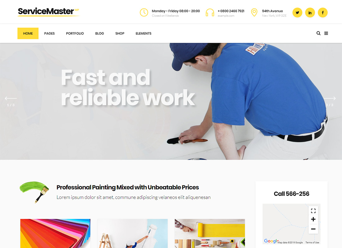 Service Master WordPress Themes for Painters