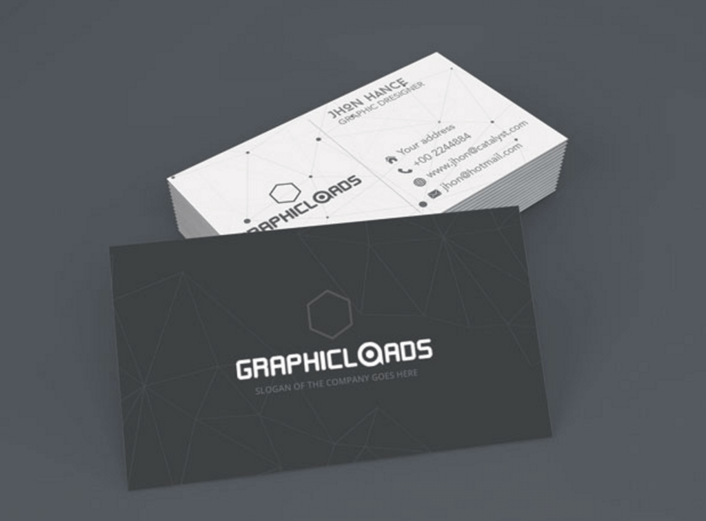 Top Free Business Card PSD Mockup Templates In Colorlib - Template for a business card