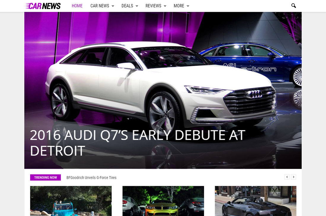 newsmag cars magazine wordpress themes