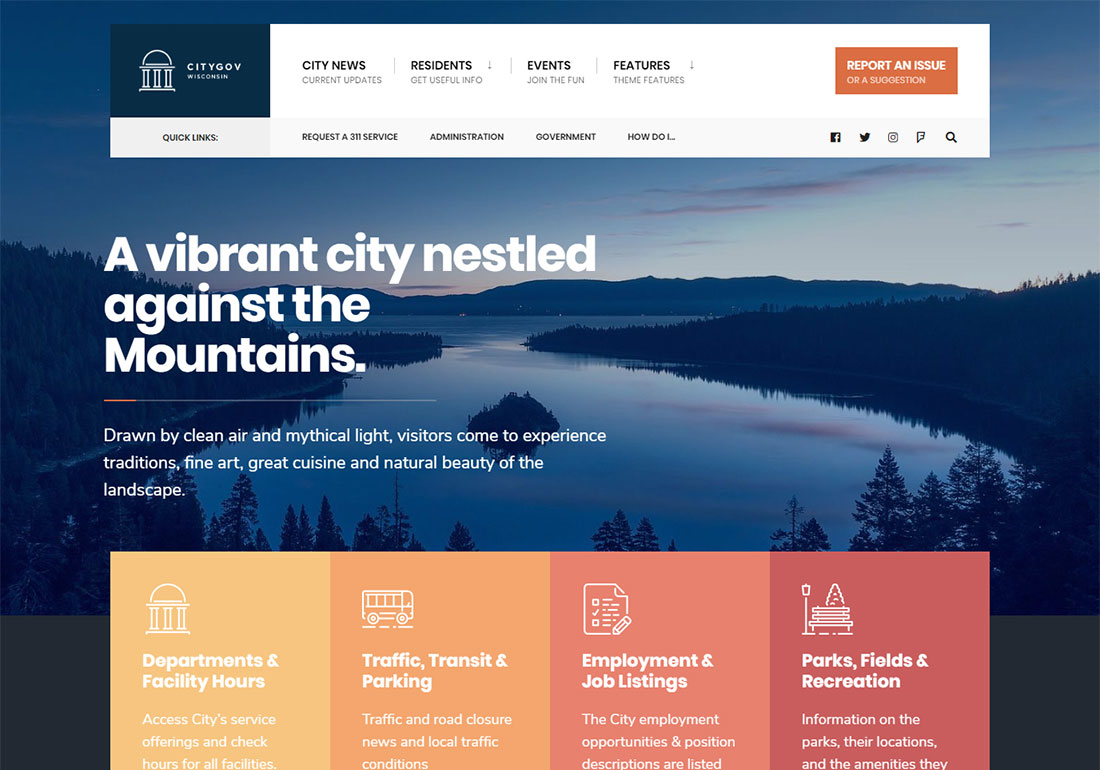 cityGov government WordPress theme