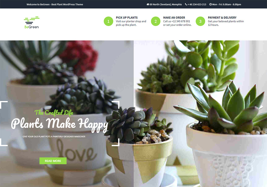 BeGreen Landscaping Website Template