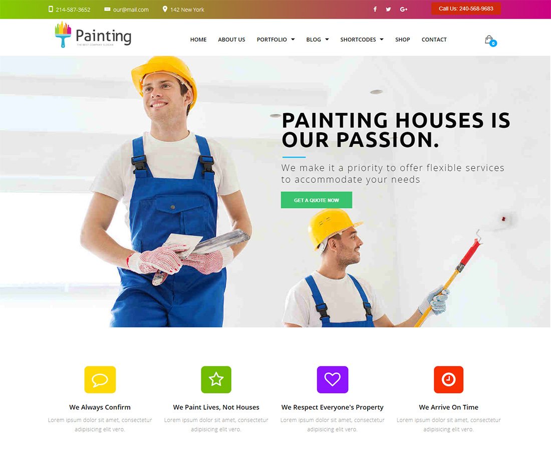 Painting WordPress Themes for Painters