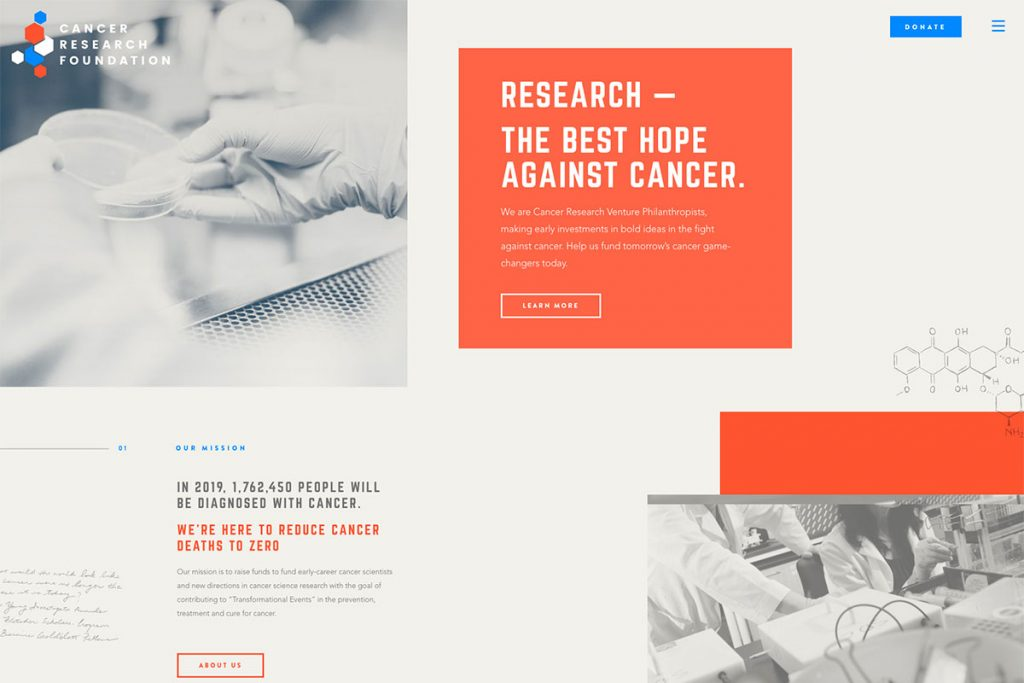 Cancer Research Foundation design