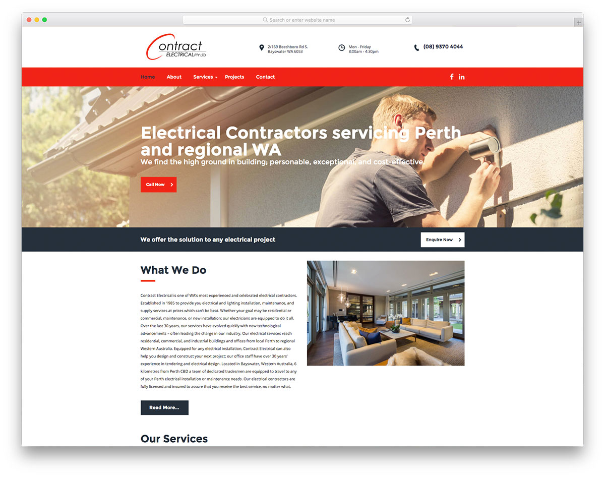 Contract Electrical website