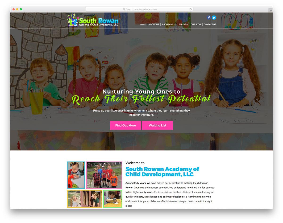 South Rowan preschoold website