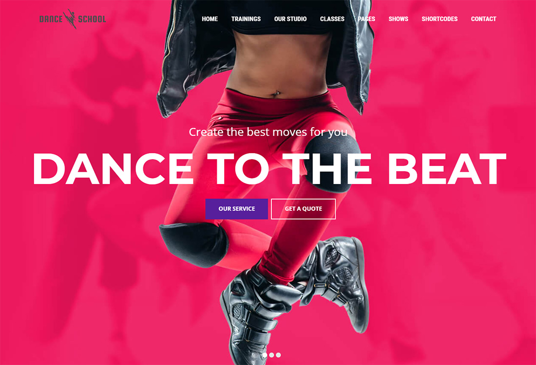Dance School - Dance Studio WordPress theme