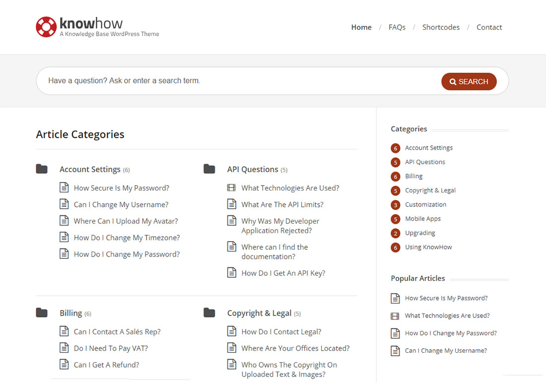 Knowhow WordPress wiki theme