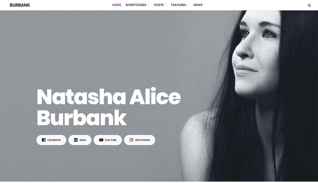 Burbank Actor Website Template
