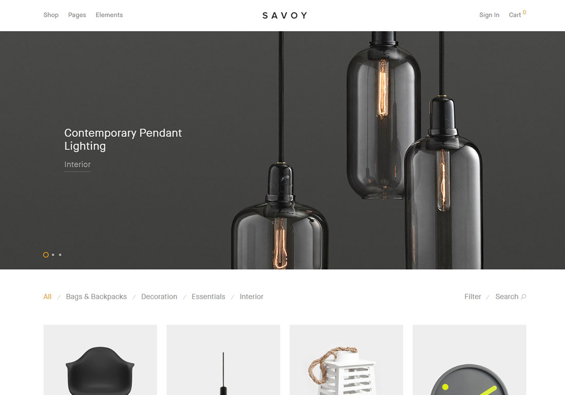 savoy ajax woocommerce theme