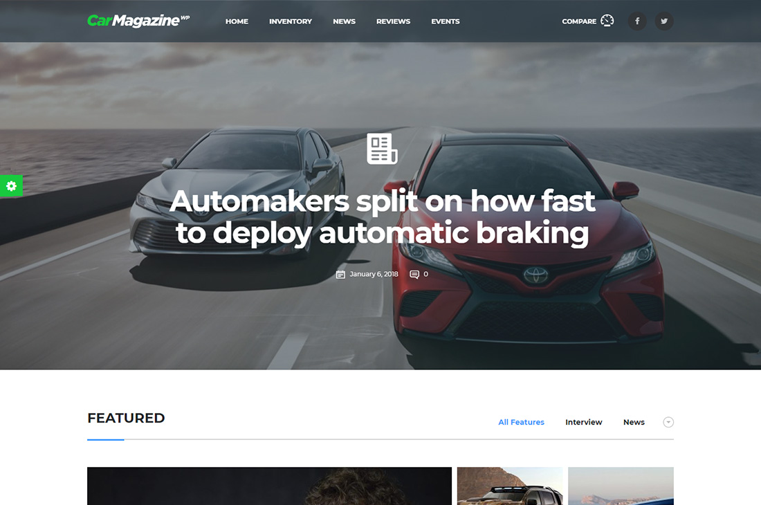 motors cars magazine wordpress themes