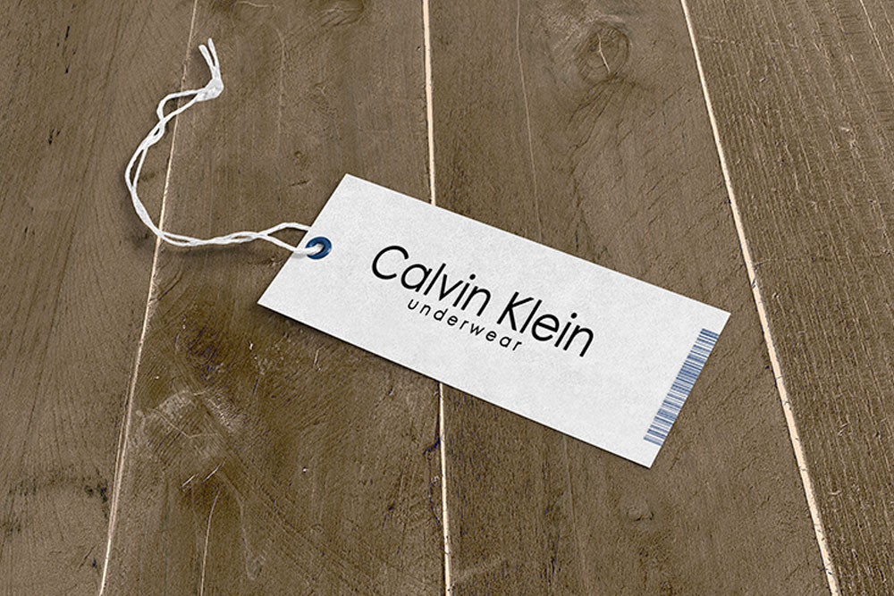 clothing tag mockup