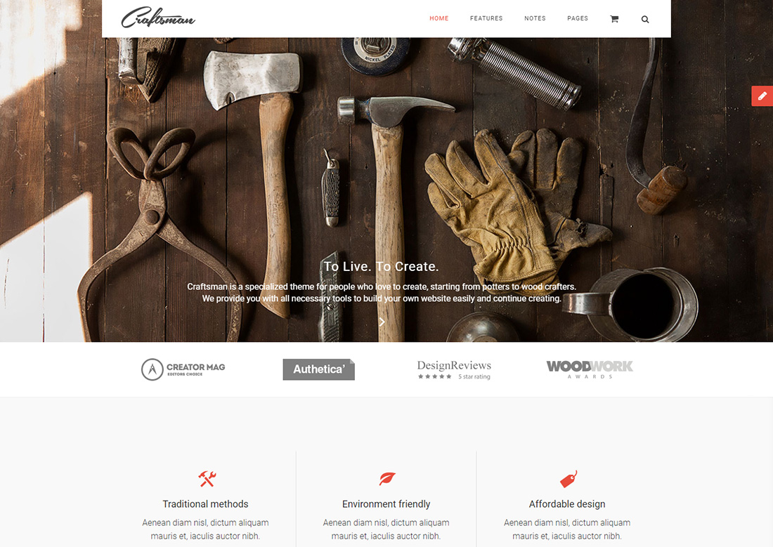 Craftsman WordPress themes