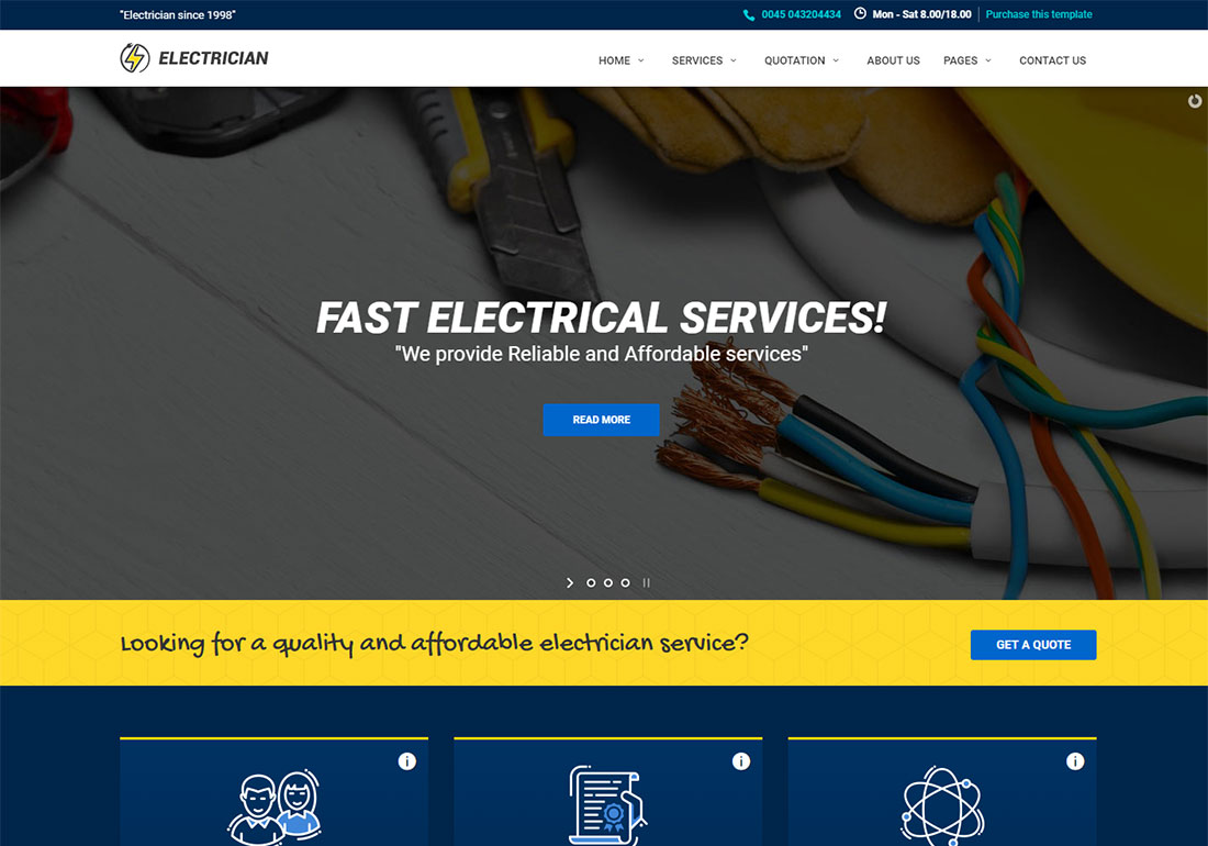 Electrician - HTML