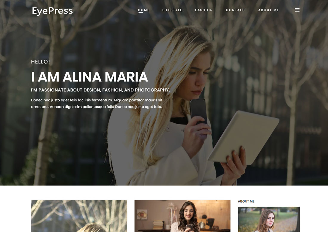 free personal WordPress themes
