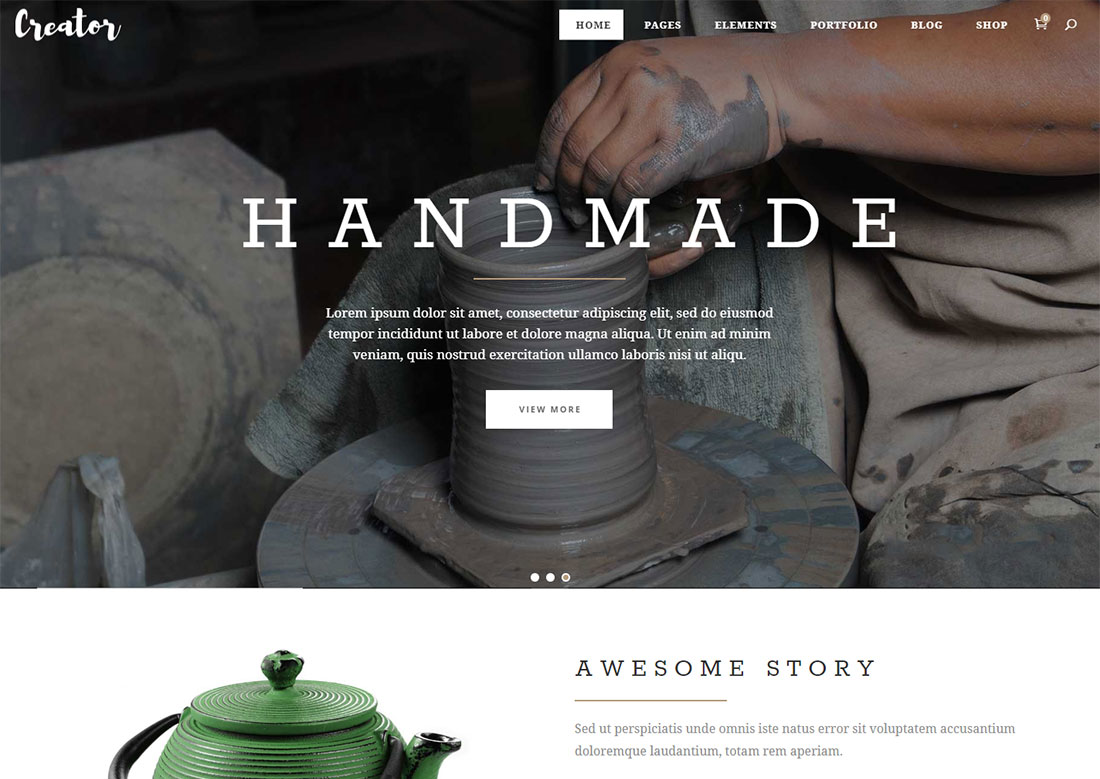 arts and crafts WordPress themes