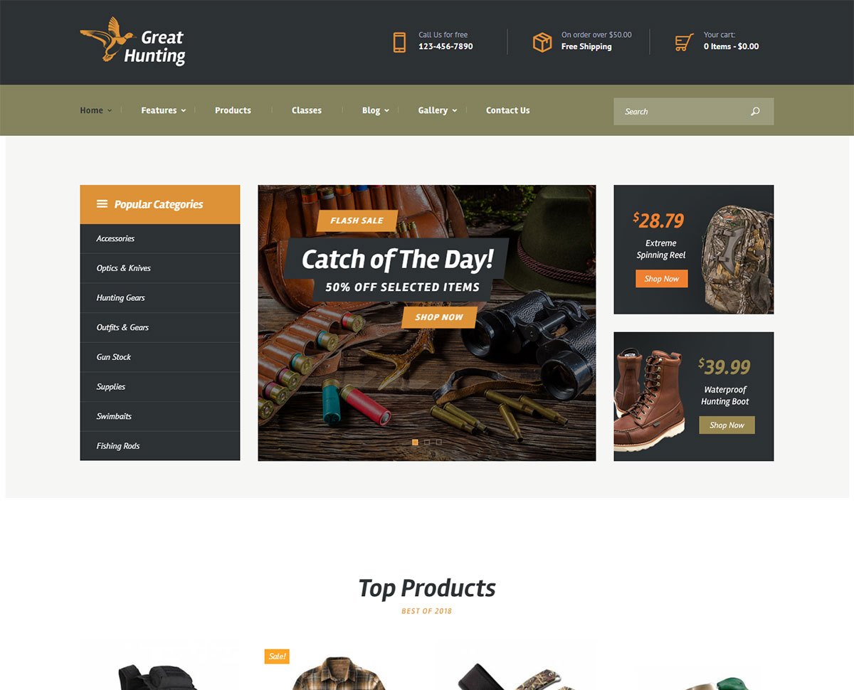 hunting wordpress themes