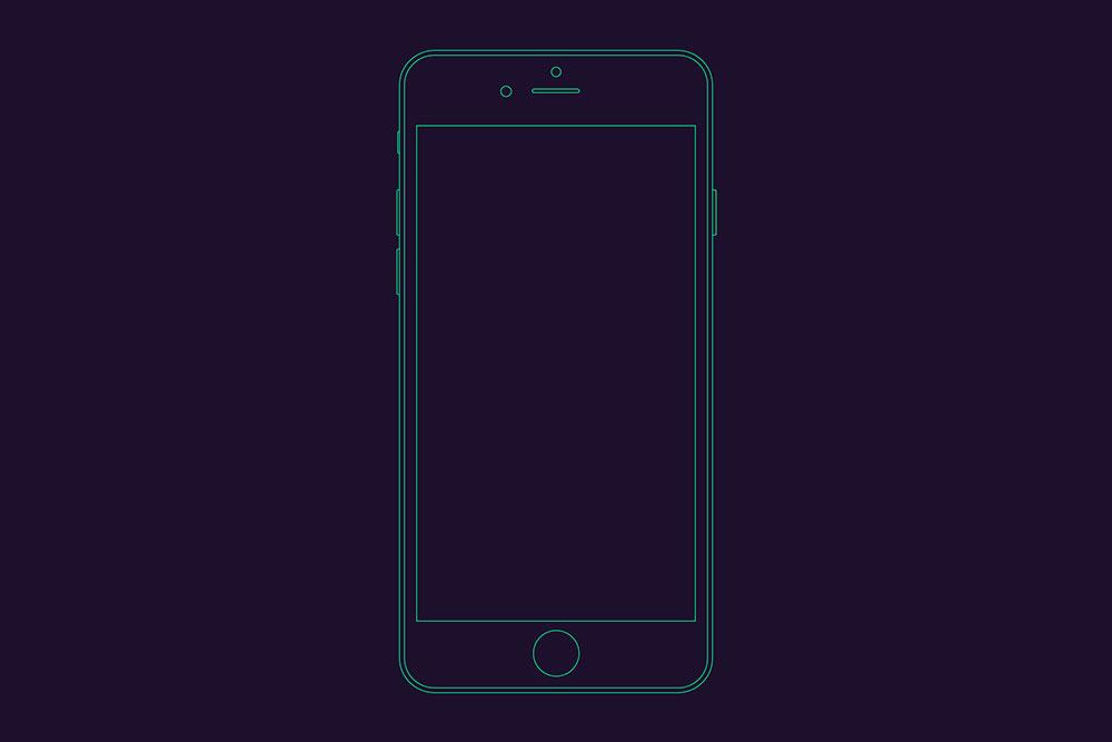 iphone outline mockup