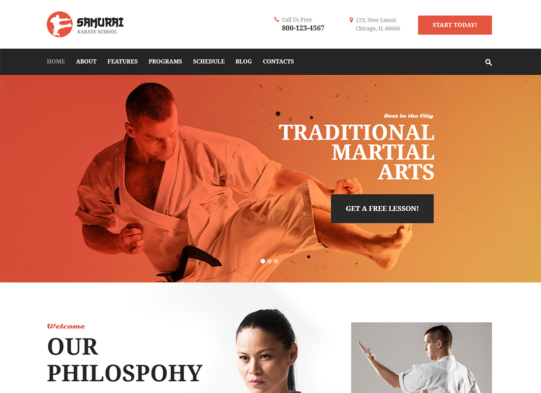 Samurai Martial Arts WordPress Theme