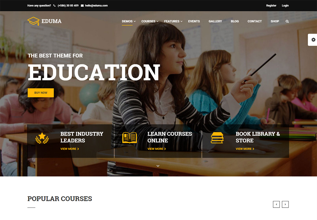 Education WP online course WordPress theme