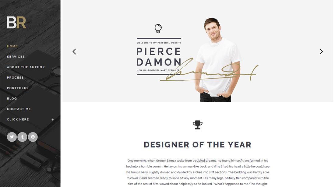 Bridge Personal Branding WordPress Theme