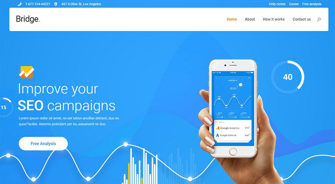 Bridge seo agency WordPress theme