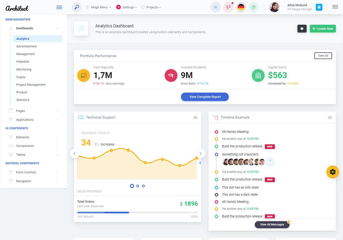 17 Best VueJS Admin Templates For Web Applications 2019 - Colorlib