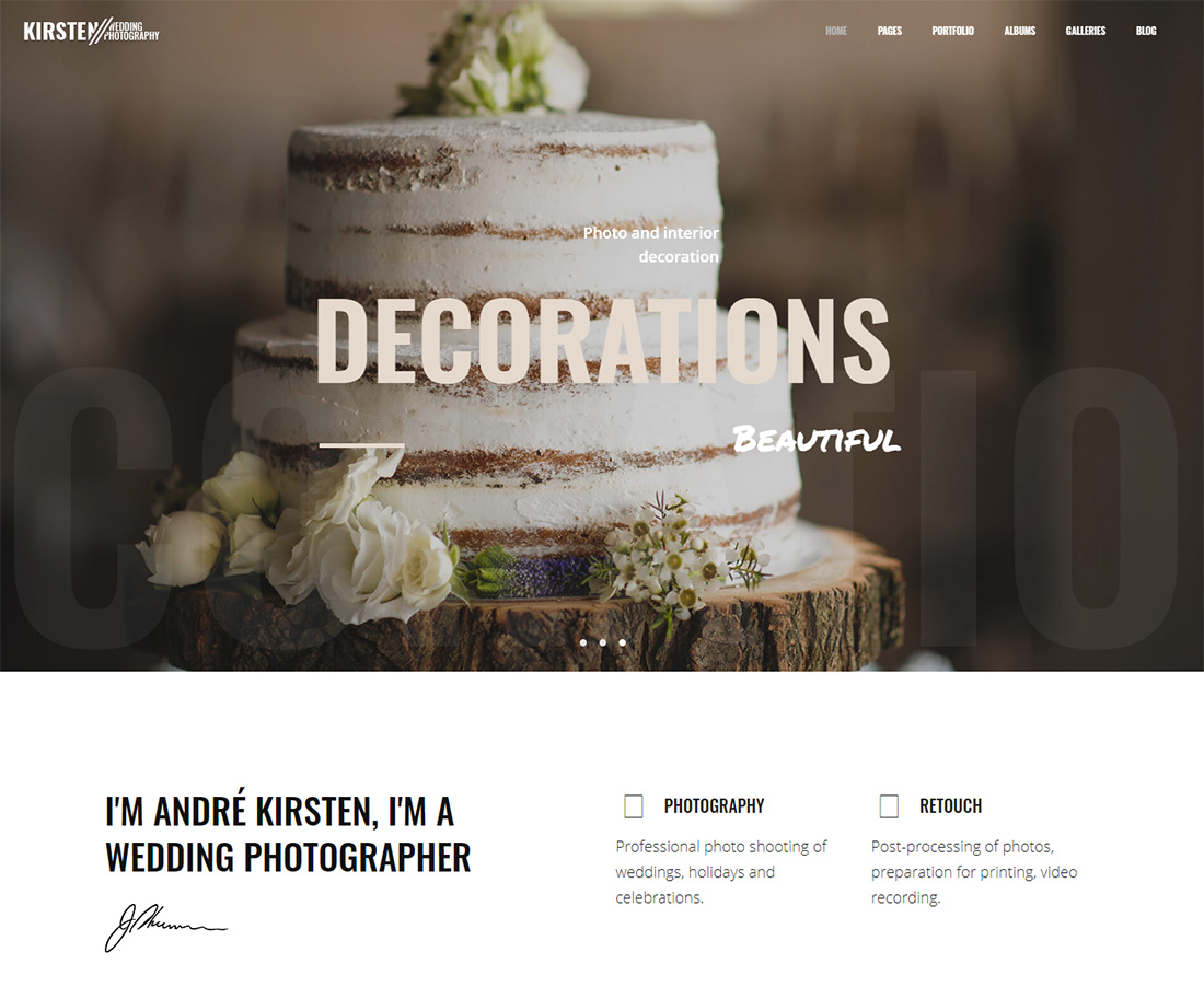 wedding photography WordPress themes