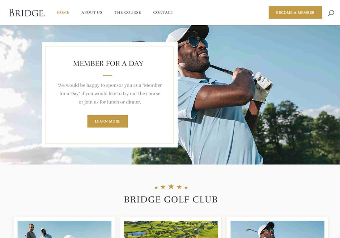 Bridge WordPress Golf Theme