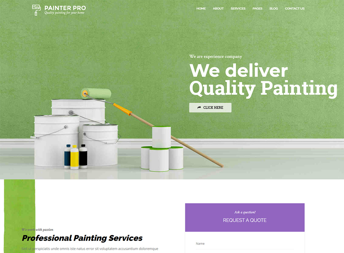 Handyman WordPress Themes for Painters