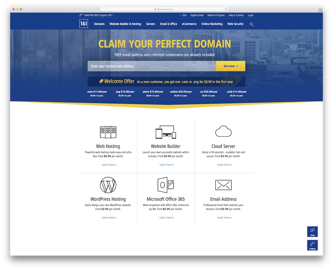 1and1 web hosting for personal website