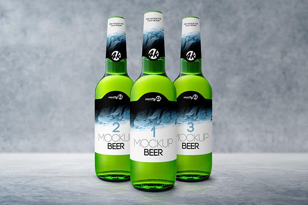 beer bottle mockups
