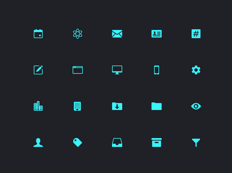 20 Dashboard Icons Sketch