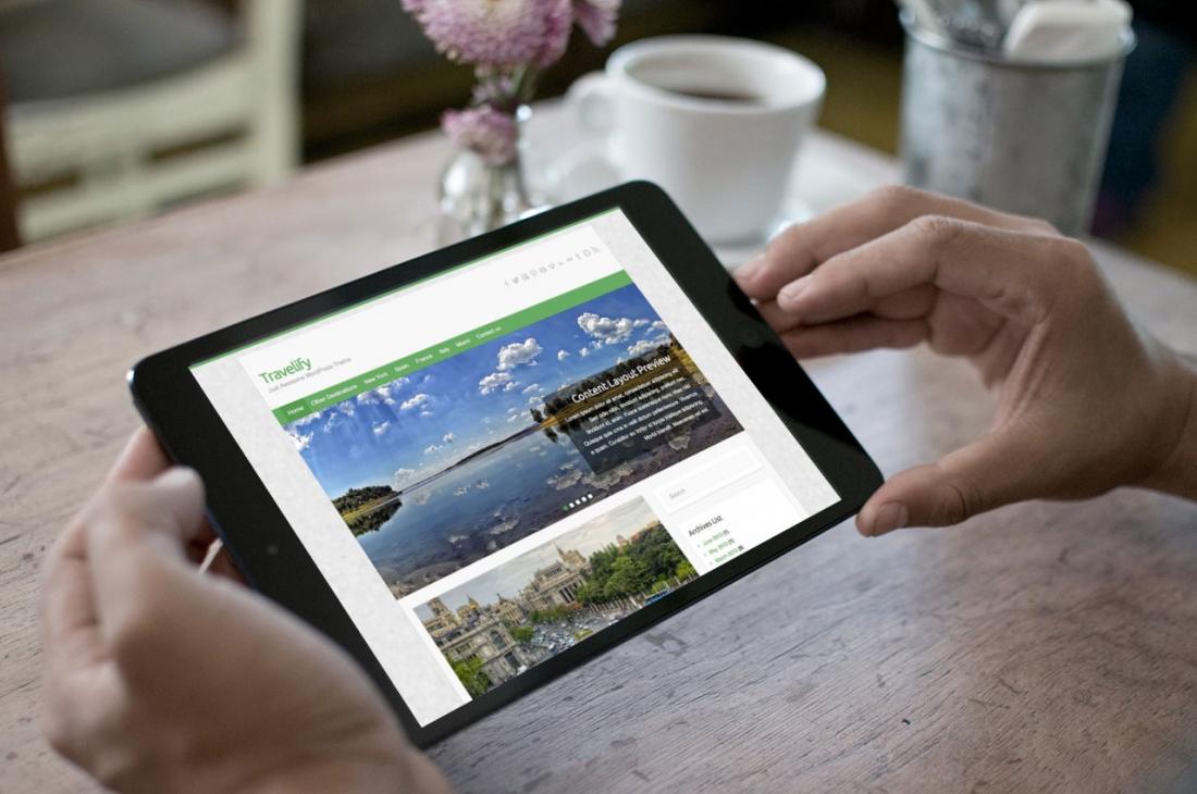 Responsive WordPress Travel Theme – Travelfy Now Available via WordPress.org