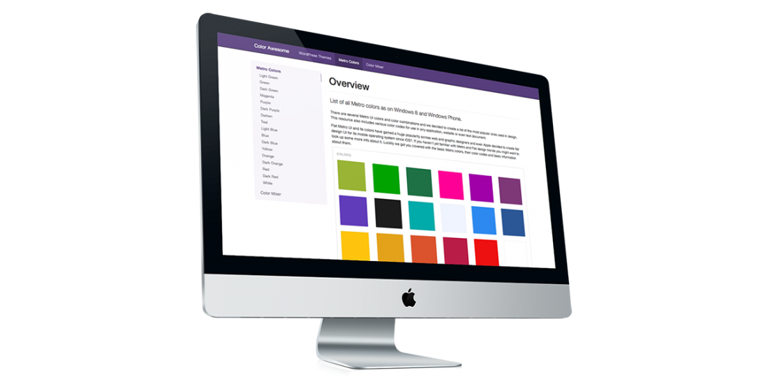 Directory of Metro colors including their HEX, RGB, CMYK color codes