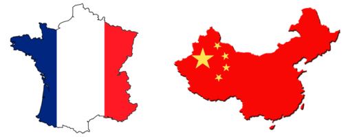 Chinese And French Flags