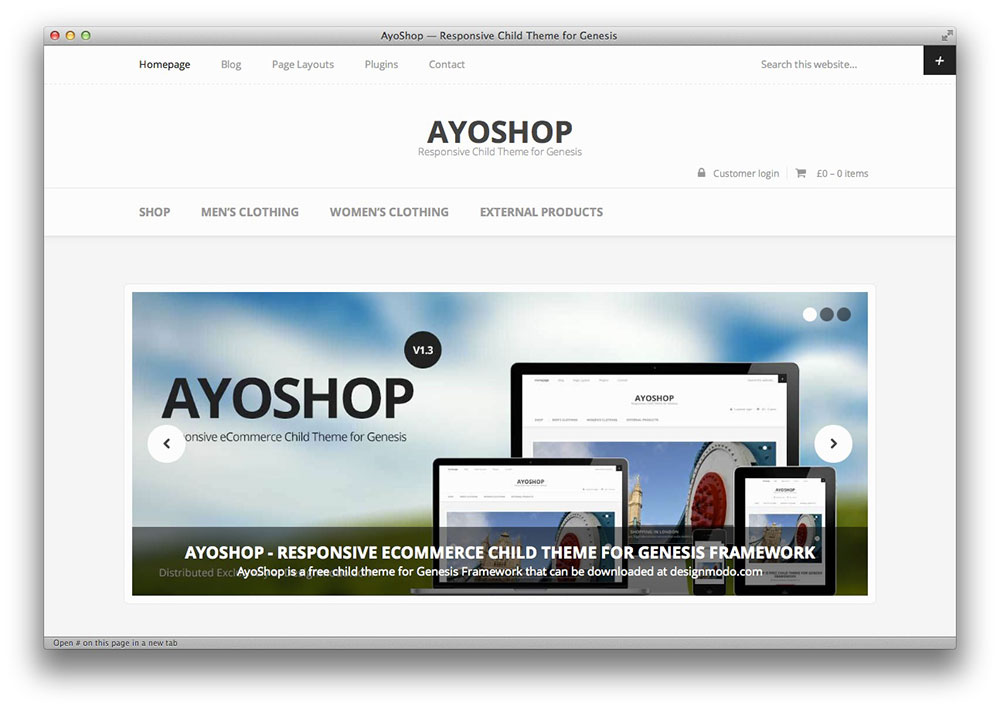 AyoShop WordPress theme
