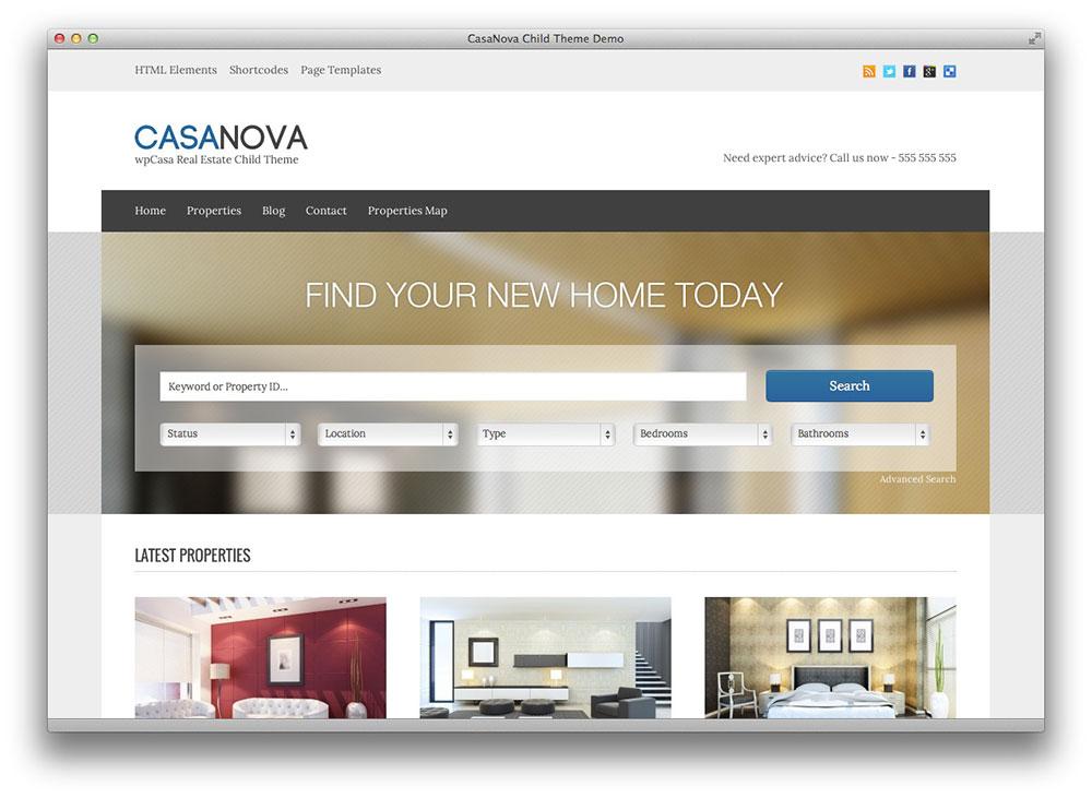 CasaNova wordpress theme