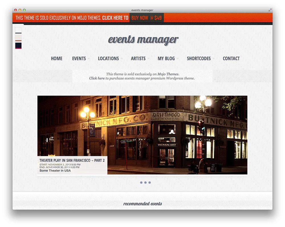 Eventful - WordPress Theme