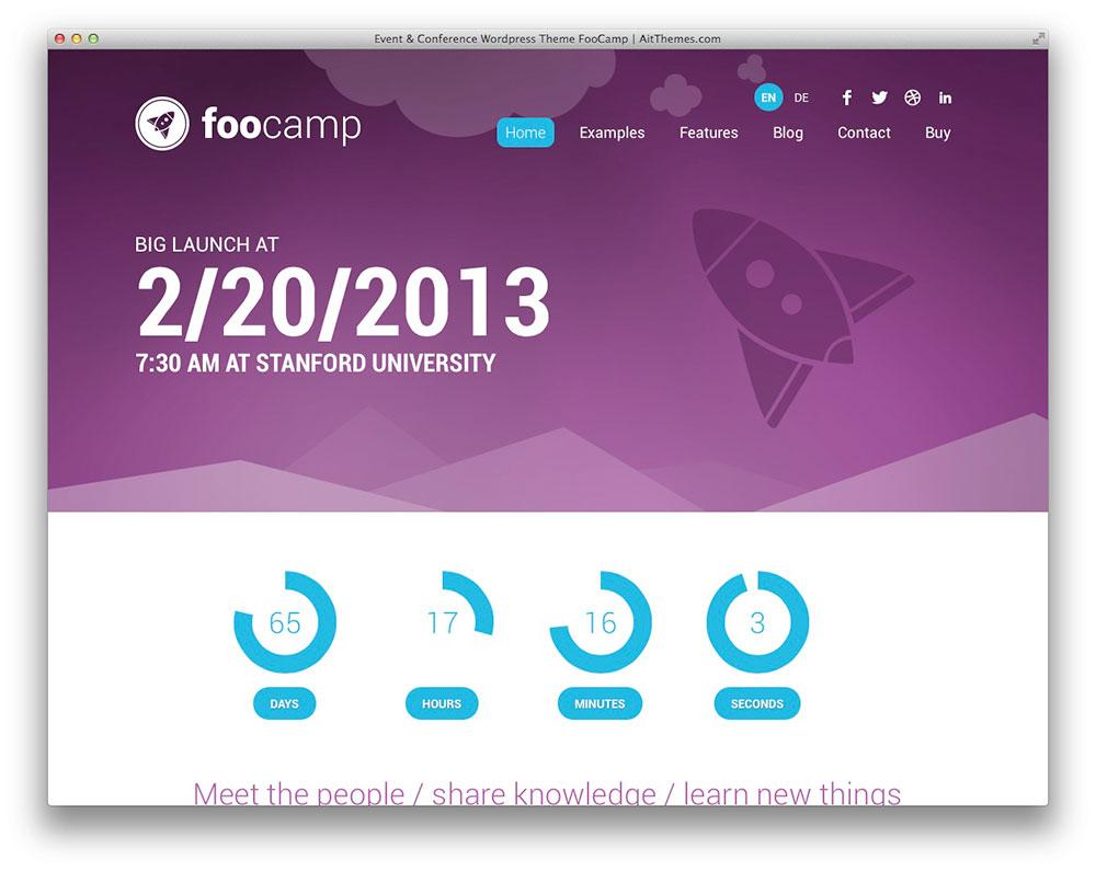 FooCamp WordPress theme