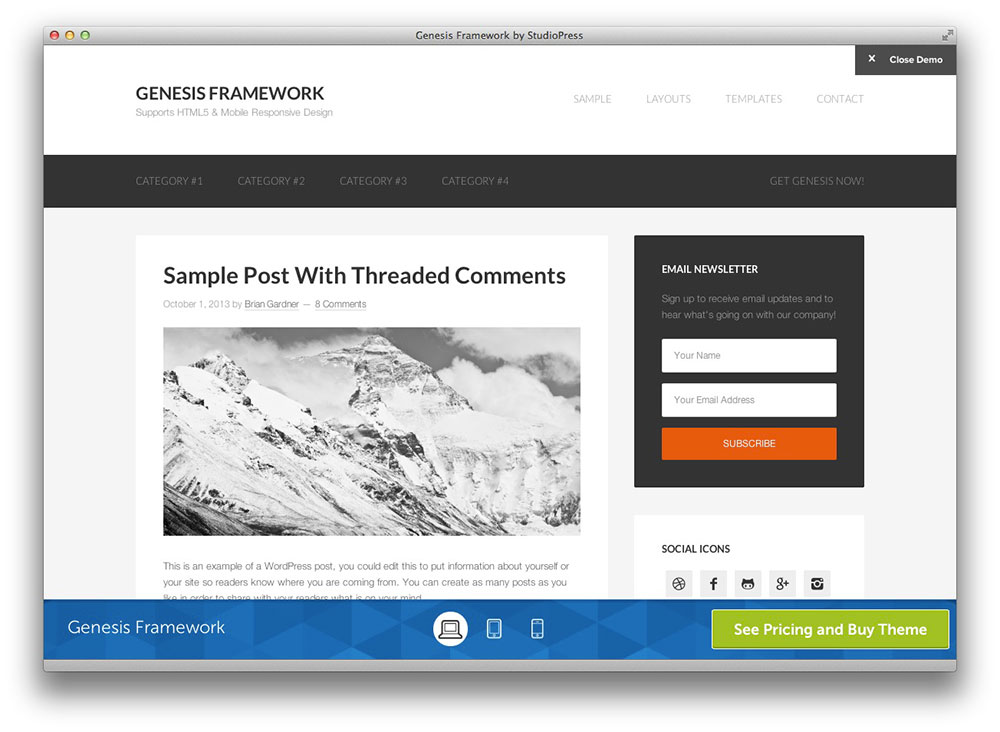 Putting a Background on a Thesis Theme in WordPress With