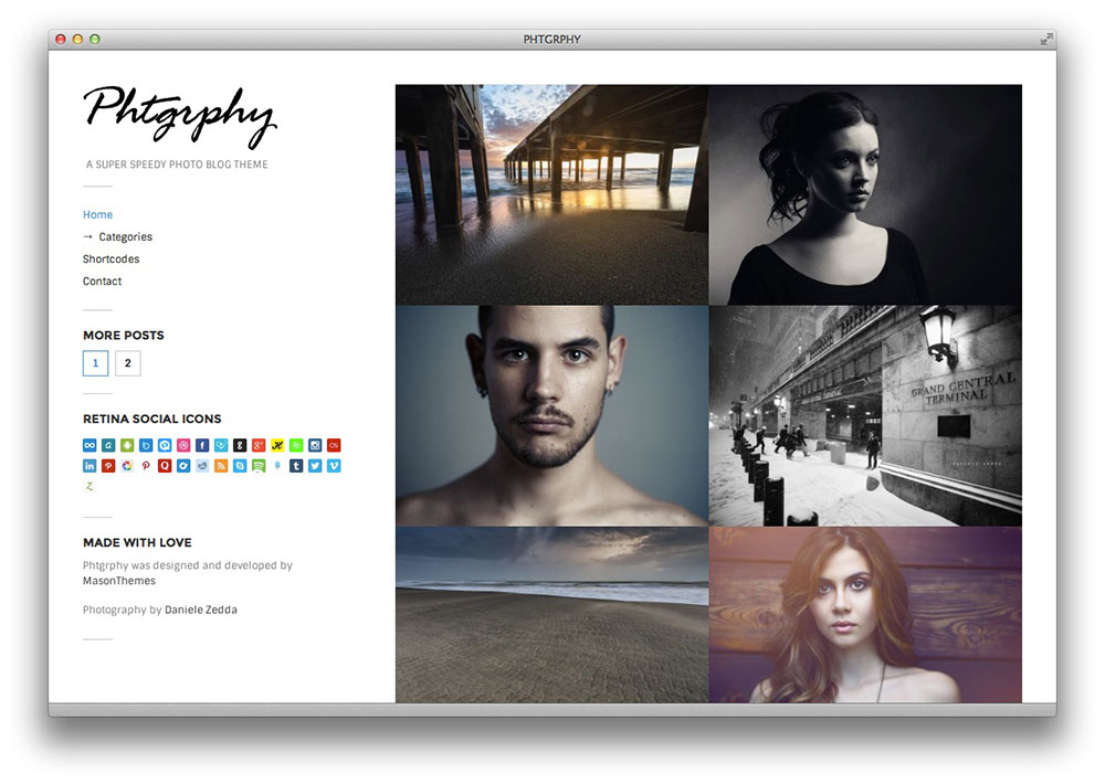 Phtgrphy WordPress theme