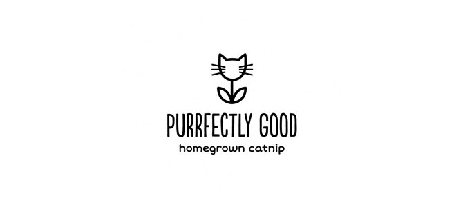Purrfectly Good Flat Logo