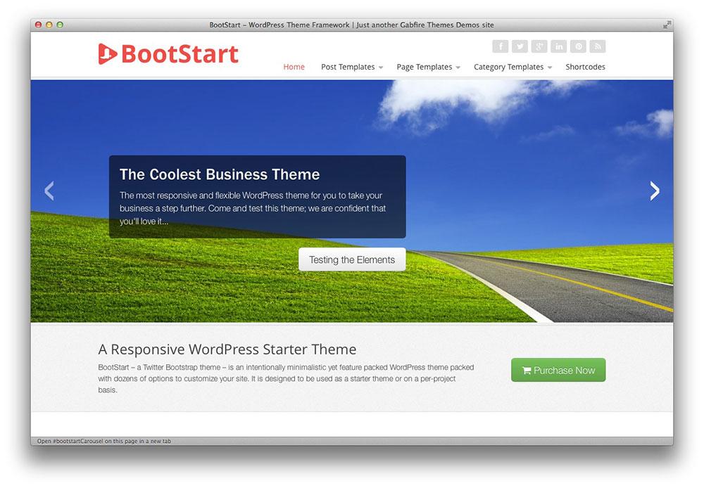 BootStart – Responsive WordPress Starter Theme