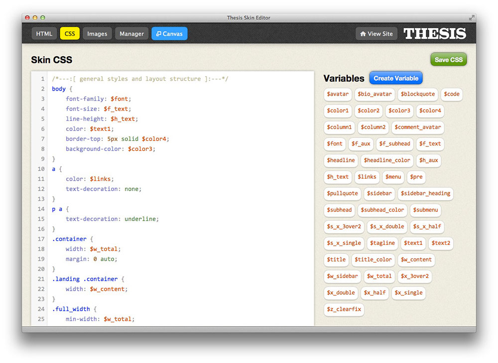 Thesis framework preview