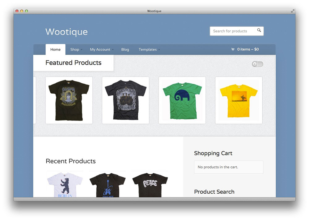 Wootique WordPress theme by WooThemes