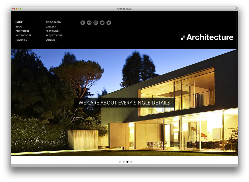 Architecture - Premium WordPress Theme